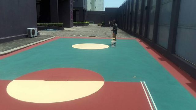 Repair of Basket Ball Court