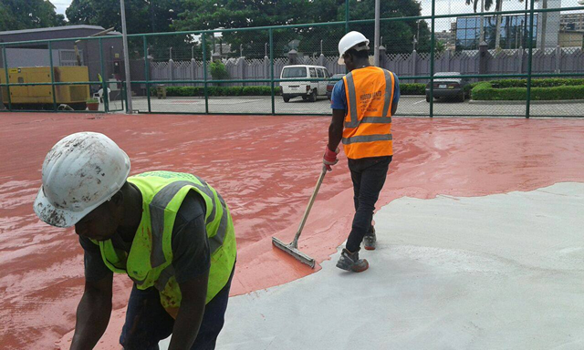 Repair of Basket Ball Court10