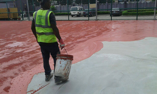 Repair of Basket Ball Court8